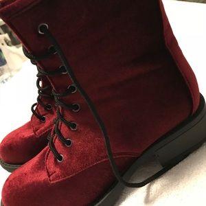 Brand New Super Stylish Velvet Boots By WET SEAL